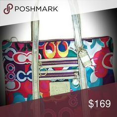 COACH Bag Like New, Authentic from the Poppy Collection. Coach Bags Totes
