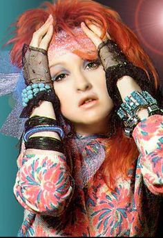 Style icon, celebrity style of the 1980s, Cyndi Lauper (Girls Just Wanna Have Fun)