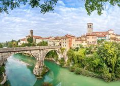 Cividale del Friuli with river and Devils bridge Poster Santa Maria, Day Trips From Venice, Kaiser Maximilian, Kaiser Karl, Old Bridges, Italy Tourism, Nature Posters, City Landscape, Countries Of The World