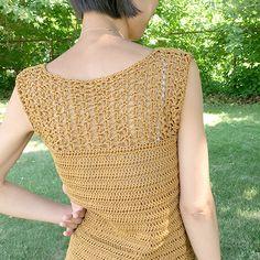 hongdae - free crochet sleeveless top pattern by Trish Young at Genuine Mudpie.