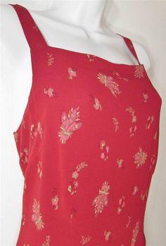Women Eddie Bauer Sleeveless Casual Summer Dress Lined Full Length sz 6 EUC #EddieBauer #Sundress #Casual