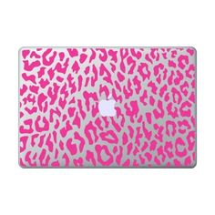 """13"""" Pink Leopard Skin for Macbook, Pro and Air ($11) ❤ liked on Polyvore featuring accessories, tech accessories and electronics"""