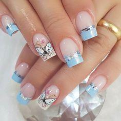 10 Amazing Spring Nail Art Designs That You Should Try Asap Manicure Nail Designs, Nail Manicure, Nail Art Designs, Spring Nail Art, Spring Nails, Perfect Nails, Gorgeous Nails, Cute Acrylic Nails, Cute Nails