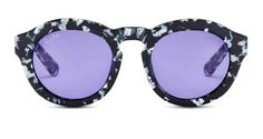 DIME - BLACK / WHITE FRAME - PURPLE COLOR THERAPY LENS - DIFF Eyewear - 1