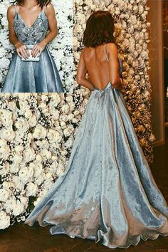 2017 New V Neck Backless Long Prom Dresses Party Gowns Sweet 16 Dress For Teens … 2017 neue v-ausschnitt backless lange prom kleider party kleider [. Prom Dresses For Teens, Prom Party Dresses, Formal Evening Dresses, Party Gowns, Dance Dresses, Sexy Dresses, Casual Dresses, Dress Party, Backless Dresses