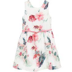 Pink Floral Cotton Dress, Tommy Hilfiger, Girl