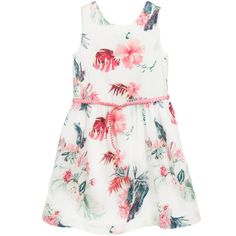 Tommy Hilfiger Pink Floral Cotton Dress at Childrensalon.com