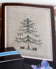 """Christmas tree in the book """"stitch"""" by onetomatotwo, via Flickr"""
