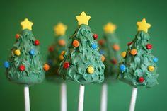 Christmas Trees Cake Pops