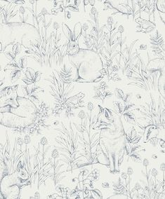 The wallpaper Forest Friends - 8890 from Boråstapeter is a wallpaper with the dimensions x m. The wallpaper Forest Friends - 8890 belongs to the popul Rabbit Wallpaper, Tier Wallpaper, Forest Wallpaper, Nursery Wallpaper, Wallpaper Samples, Animal Wallpaper, Home Wallpaper, Bedroom Wallpaper White, Cottage Wallpaper