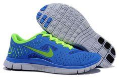 Nike Free 4.0 V2 Royal Volt Womens Shoes On Sale