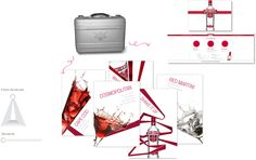 Smirnoff Tasting Kits  This was part of an educational campaign, to educate the trade guys on the purity of Smirnoff Vodka. The kit comprised of a tasting matt, cocktail booklets, competitor vodkas and shot glass. photography |  design |  art direction |  typography