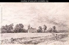 Learn more about Cottages and road, East Bergholt John Constable - oil artwork, painted by one of the most celebrated masters in the history of art. Art Gallery Uk, Landscape Drawings, Landscapes, Portraits, Illustrations And Posters, Best Artist, Les Oeuvres, Sketches, History
