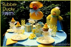 Rubber Ducky Party on http://pizzazzerie.com