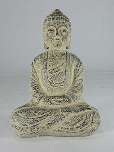 "PY-4571--Stone Finish Buddha  Bach Colour (H14""XW10"")"
