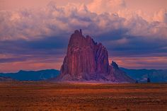 "tigertears: "" ShipRock Storm New Mexico (by kevin mcneal) """