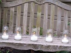 Mason Jar candles by melissamichaels, via Flickr by johanna