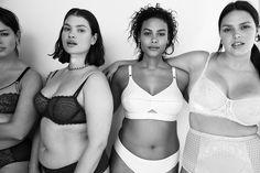 """A """"Vogue"""" americana divulgou seu editorial estrelado por modelos plus size de lingerie - confira! Lingerie Editorial, Lingerie Shoot, Best Lingerie, Plus Size Lingerie, Vogue Editorial, Online Lingerie, Poses, Vogue Models, Latest Bra"""