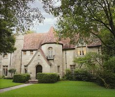 This  european inspired house was built in 1941 by noted architects Herbert M. Greene, LaRoche & Dahl, Dallas, TX