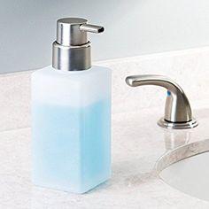 Amazon|InterDesign 泡 ソープ ポンプ ディスペンサー ボトル ガラス製 Casilla フロスト マット 70564EJ|ソープ・シャンプー用ディスペンサー - ホーム&キッチン オンライン通販