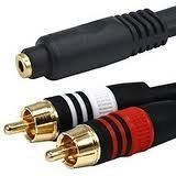 "Imbaprice - Premium Series 6 Inches 3.5mm Stereo Female to 2rca Male 22awg Cable - Gold Plated - Lifetime Warranty by iMBAPrice. $4.99. PREMIUM 6 Inches 3.5mm Stereo female to 2RCA Male 22AWG Cable - Gold Plated If you want really BIG SOUND from your portable media device or laptop, nothing beats connecting it to your homes main audio system. These Premium 3.5mm (1/8"" headphone plug) to 2 RCA (Right/Left) stereo patch cables are what you need to bridge the gap. Simp..."