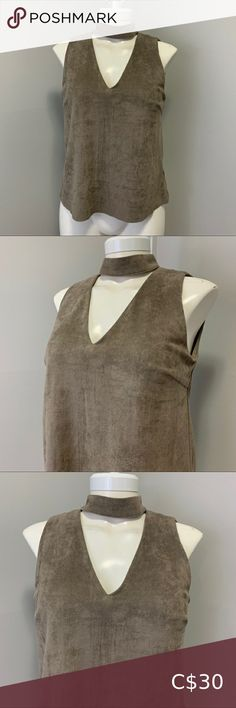 Design Lab Sleeveless Suede Shirt Sleeveless shirt by Design Lab Lord & Taylor  Extremely soft and comfortable, lightweight suede  Keyhole back Stretchy material  Cool-tone brown colour- true to colour in pictures  Perfect condition 10/10 Shell 90% polyester 10% spandex, lining 100% polyester   Women's size medium Design Lab Lord & Taylor Tops Design Lab, Cool Tones, Media Design, Sleeveless Shirt, Lord & Taylor, Stretchy Material, Top Colour, Shirt Designs, Shell