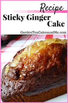 Are you a Cake Lover? This recipe for Sticky Ginger Cake is the best, using sticky ginger syrup and slices of ginger. Love ginger you are going to love a slice of this cake. A great loaf tin recipe, an any occasion cake. Click the photo to visit my site for the recipe.