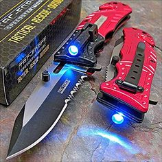 Mtech MT-A705SBL Titanium Coated Stainless Steel Blade Tactical Folding Knife (Blue/Silver)