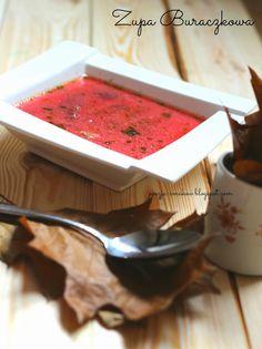 Jesienna zupa buraczkowa - czerwona ( z dojrzałych buraków). zupa buraczkowa,