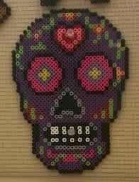 Image result for perler bead sugar skull
