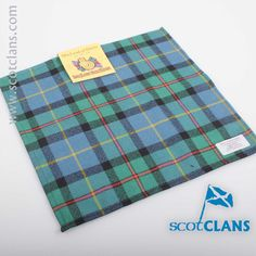 MacLod of Harris Ancient Tartan Pocket Square. Free worldwide shipping available