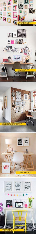 Como decorar gastando pouco: Home offices (escritórios) - Bramare por Bia LombardiBramare por Bia Lombardi: