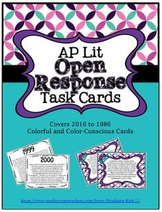 This bundle includes task cards for the released AP… High School Literature, Ap Literature, Teaching Literature, Ap Test, Test Prep, English Reading, Ap English, English Class, Ap 12