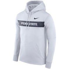 Nike Penn State Nittany Lions White Sideline Performance Hoodie #pennstate #nittanylions #psu Lions Team, Nittany Lion, Team Gear, Hooded Jacket, Hoodies, Nike, Jackets, Shirts, Stuff To Buy