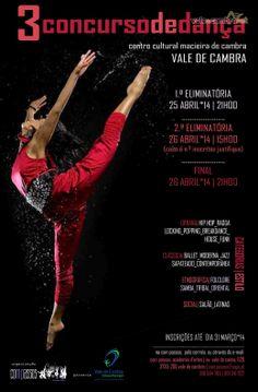 3.º Concurso de Dança  > 25 e 26 Abril 2014 @ Centro Cultural, Macieira de Cambra, Vale de Cambra  #ValeDeCambra #MacieiraDeCambra