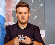 Liam at the Germany signing
