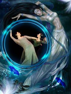 Фантастический танцевальный коллаж. Использованы фото танцовщиц Costa Del Flamenco