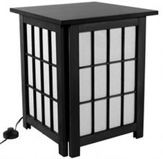 This Hokkaido End Table / Shoji Lamp serves you in multiple ways. It doubles as a table with a built-in light source, creating a unique, highly functional addition to your home's décor.