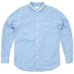 Nanamica Cotton Nylon Chambray Wind Shirt (Blue)