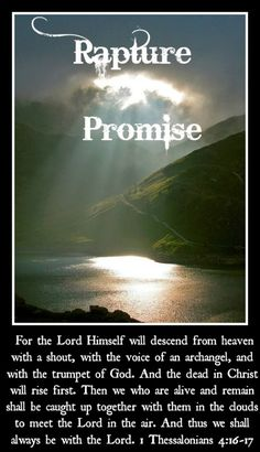 Our rapture promise so MOVE now to believe and be ready. Time to feed the soul & MOVE to magnify God not self or others. Find peace & joy on the journey. www.magnificatmealmovement.com