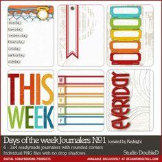 Days of the Week Journalers No. 1 Studio Double-D Designer Digitals