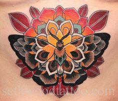 Moth Tattoo by Seth Wood