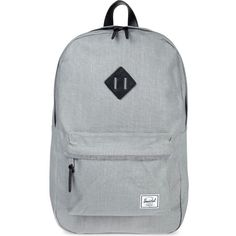 HERSCHEL SUPPLY CO Heritage backpack (£105) ❤ liked on Polyvore featuring bags, backpacks, backpack, grey, military rucksack, canvas laptop backpack, canvas knapsack, knapsack and canvas backpack