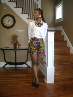 My Style Oasis: DIY Ankara Shorts ~Latest African Fashion, African Prints, African fashion styles, African clothing, Nigerian style, Ghanaian fashion, African women dresses, African Bags, African shoes, Nigerian fashion, Ankara, Kitenge, Aso okè, Kenté, brocade. ~DK