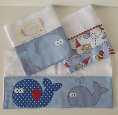 Sewing Hacks, Sewing Crafts, Sewing Projects, Baby Sheets, Baby Shawer, Patchwork Baby, Baby Burp Cloths, Sewing Accessories, Embroidery Techniques