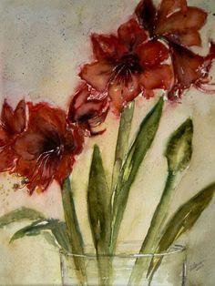 'Amaryllis in the Glass - Ritterstern im Glas' von Chris Berger bei artflakes.com als Poster oder Kunstdruck $18.29