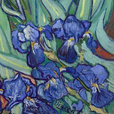 Irissen (detail) van Vincent van Gogh