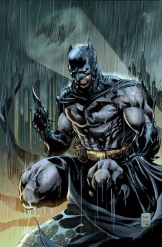 Batman Batsignal Print---Pencils by Ardian Syaf & Color by Jason Embury