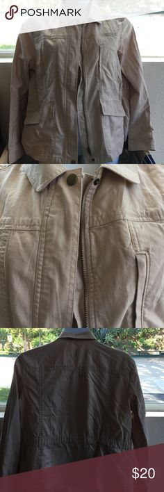 Loft XL tan cargo utility jacket Loft XL tan cargo utility jacket LOFT Jackets & Coats Utility Jackets