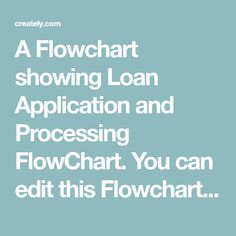 A Flowchart showing Loan Application and Processing FlowChart. You can edit this Flowchart using Creately diagramming tool and include in your report/presentation/website. Loan Application, Flowchart, Presentation, Website, Classic, Derby, Classic Books